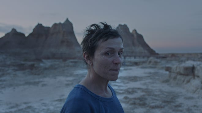 "Frances McDormand stars as a woman who hits the road after her husband's death in Chloe Zhao's ""Nomadland."" The drama, which features mostly non-professional actors, was largely overlooked by the Screen Actors Guild."