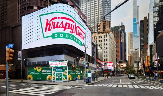 Krispy Kreme is opening its first flagship location in New York City's Times Square.