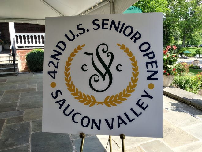 The logo for the 2022 U.S. Senior Open at Saucon Valley Country Club in Bethlehem was unveiled Wednesday.