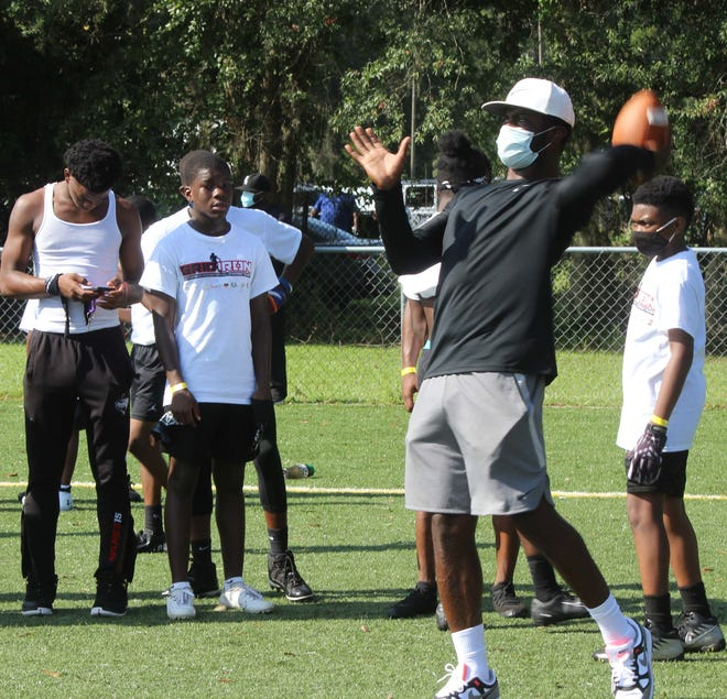 Former NFL quarterback Mike Vick hosted a Gridiron Southern Atlantic football camp Aug. 15 in Hardeeville. The camp had limited attendance because of the coronavirus pandemic.