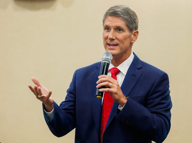 Lakeland City Commissioner Scott Franklin shocked political observers by ousting incumbent U.S. Rep. Ross Spano in Tuesday's Republican primary for U.S. House District 15. PIERRE DUCHARME/THE LEDGER