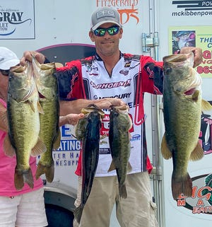Ray Chancey had 25.92 pounds and a 5.70 pound big bass to win the Lakeland Bassmasters Draw tournament Aug. 16 on the Harris Chain. [ PROVIDED BY JAYSON HOOVEN ]