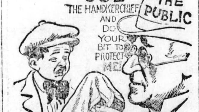 An illustration that ran in the Palm Beach Post during the 1918 Spanish Flu pandemic. [FILE PHOTO/PALM BEACH POST]