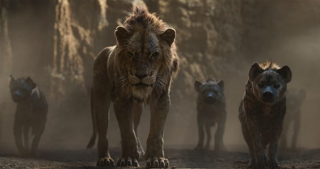 "This image provided by Walt Disney Pictures shows a scene from ""The Lion King."" [Walt Disney Pictures via AP]"