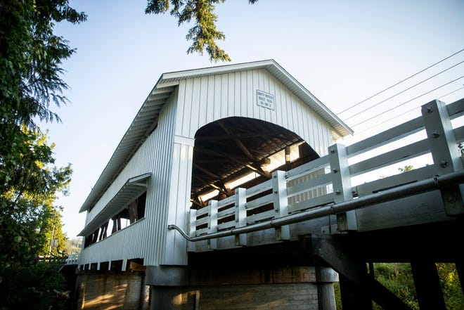 The Unity Covered Bridge is one of 19 covered bridges in Lane County. Lane County has the most maintained bridges west of the Mississippi by county.