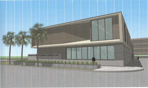 Sarasota County will soon start construction of a new cooling plant at the intersection of School Avenue and Ringling Boulevard, adjacent to the Sarasota County Parking Garage.