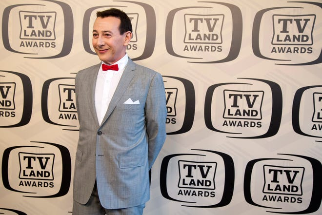 Paul Reubens, seen here dressed as his character Pee-wee Herman, arrives in April 2012 at the TV Land Awards 10th Anniversary in New York. Reubens' Sarasota High School class of 1970 has announced a 50th reunion celebration.