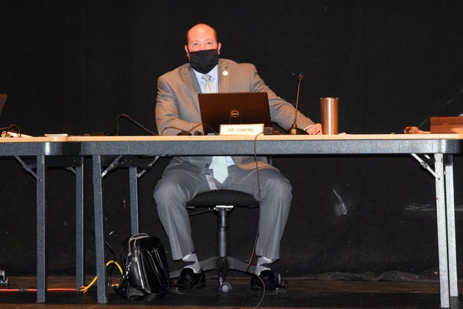 Indian River School District Superintendent Jay Owens just prior to the special meeting Aug. 19.