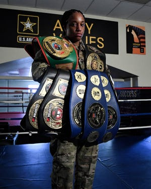 Staff Sgt. Naomi Graham, who has earned several boxing medals and was named as a captain for the Team USA Boxing Team on Aug. 12, is keeping her focus to go to the Olympics, despite the 2020 summer games rescheduled because of the coronavirus pandemic. [Contributed/Army]