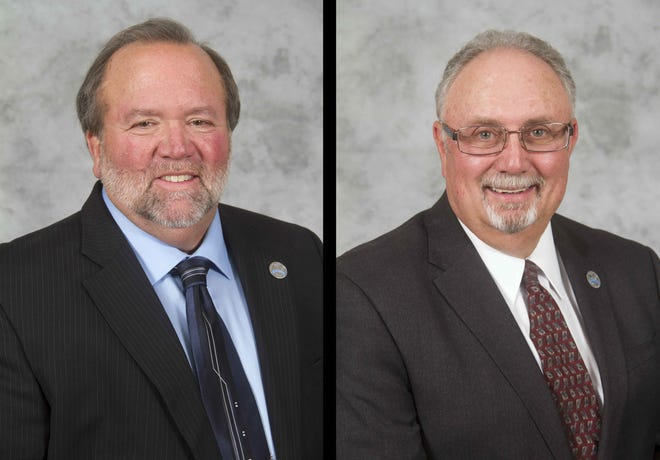 Town of Apple Valley Councilmen Larry Cusack, left, and Art Bishop will run unopposed in the November election.