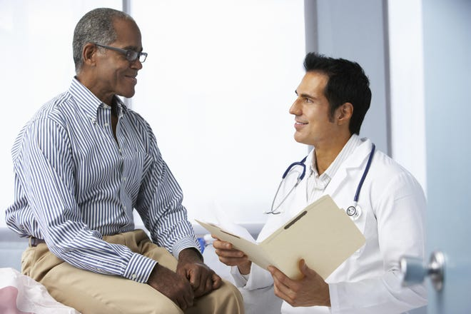 Patients should be given the opportunity to discuss with providers both surgery and radiation therapy as treatment options for prostate cancer.