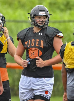 Lawrenceburg (Ind.) offensive line standout Ashton Craig verbally committed to Notre Dame on Saturday, June 26, 2021.
