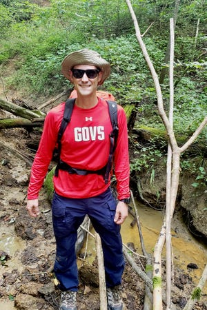 The recovery team, led by APSU's Bryan Gaither, hiked through wooded and hilly terrain in Kentucky to find the payload after the launch.