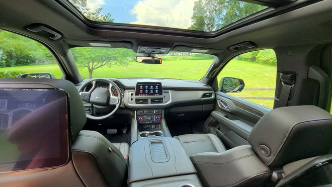 The second row of the 2021 Chevy Suburban gets a palatial view with the sunroof.