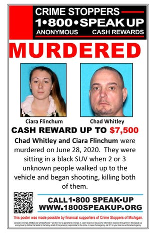 Crime Stoppers of Michigan announced the reward Wednesday.