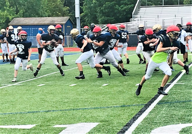 The Lancaster football had a little pep in their step Tuesday afternoon during practice after they found out Ohio Governor Mike DeWine gave the go-ahead for high school football to be played this fall.