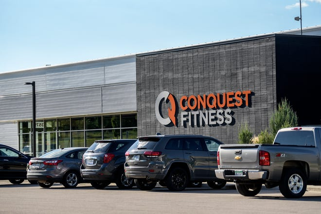 Conquest Fitness, on Tuesday, Aug. 18, 2020, in DeWitt Township, remains open despite COVID-19 restrictions.