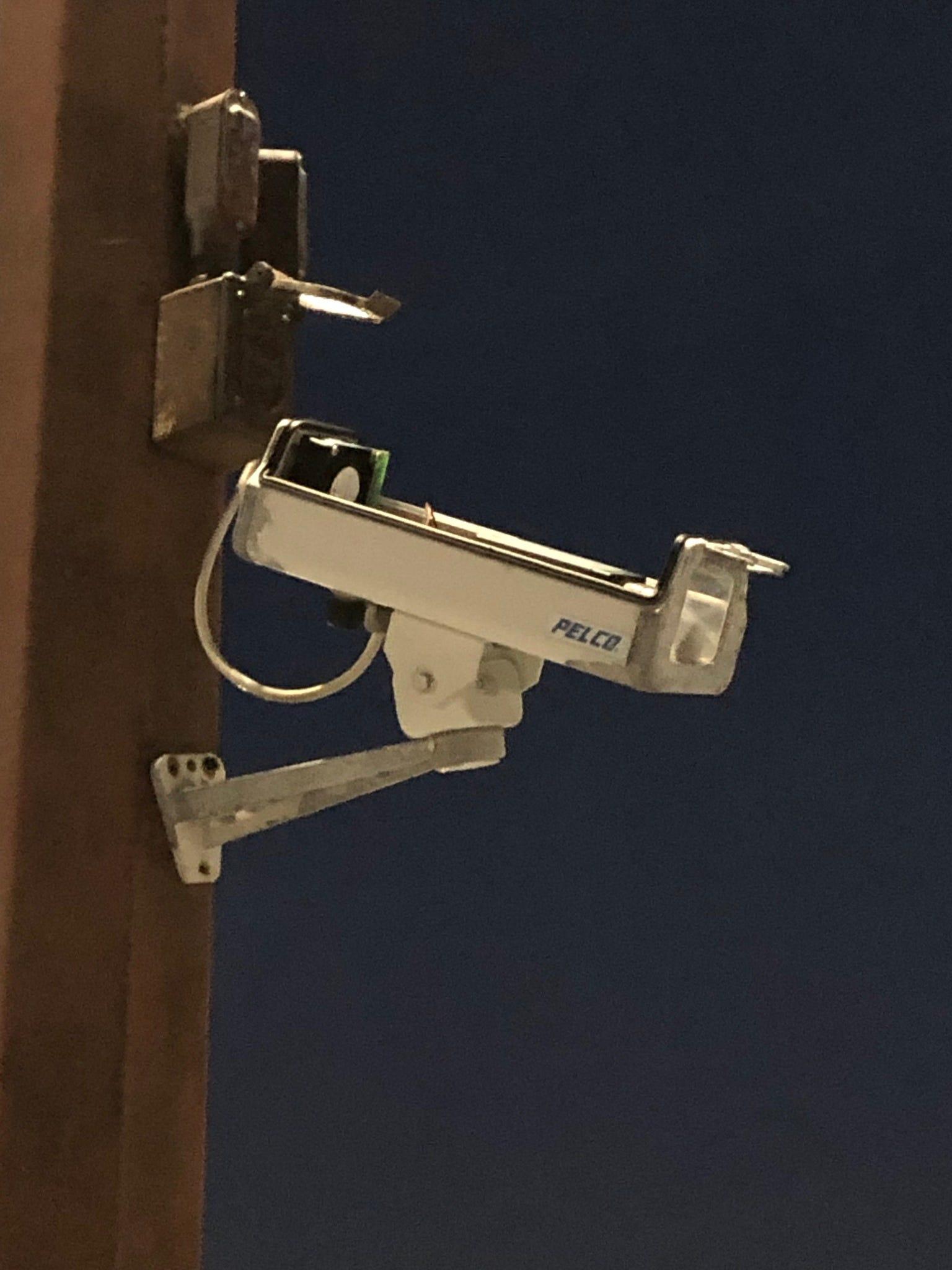 A broken camera at Aurora Sinai