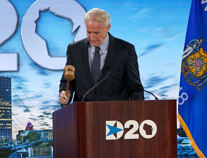 Milwaukee Mayor Tom Barrett called the mostly-virtual 2020 Democratic National Convention to order at the Wisconsin Center.
