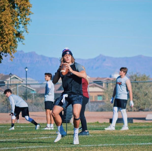 Perry senior quarterback Dane White has found a platform that he hopes helps troubled teens contemplating suicide. Photo courtesy of Bryan White