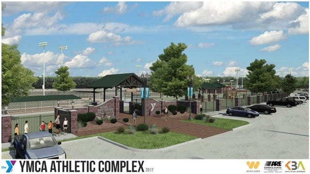 An artist's rendering of the planned YMCA athletic complex in conjunction with Shreveport Little League.