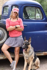 Katie Ballantine and her dog, Shire.