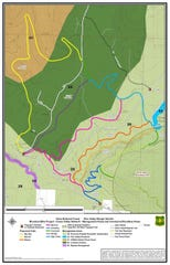 A preliminary map of the proposed Grass Valley trail system above Pine Valley.