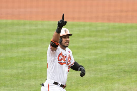 Anthony Santander had 20 extra-base hits through 24 games for Baltimore.