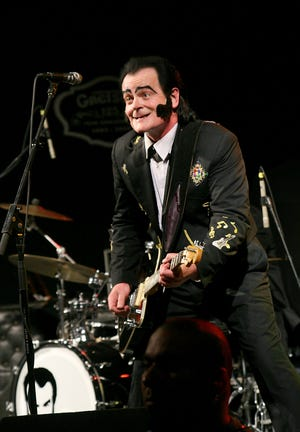 Unknown Hinson performs at Day 2 of Texas Rockabilly Revival on May 17, 2008 at Stubb's BBQ in Austin, Texas.