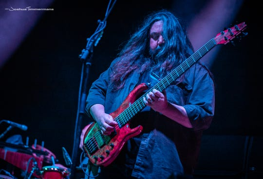 Dave Schools of the band Widespread Panic performs on April 20, 2018 at the Wanee Music Festival, in Live Oak, Florida.