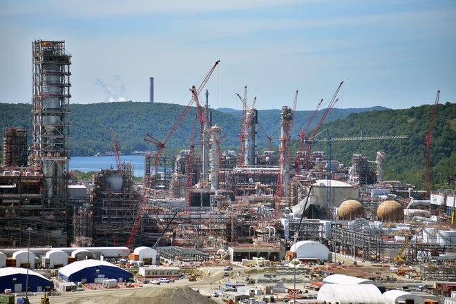 Sixty-one new virus cases were reported at Beaver County's petrochemical complex this week, bringing the total number since March to 335. Since mid-November, total cases have tripled.