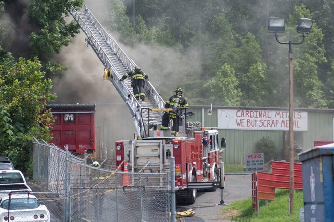 A trailer caught on fire at Cardinal Metals in Asheboro on Thursday, Aug. 20.