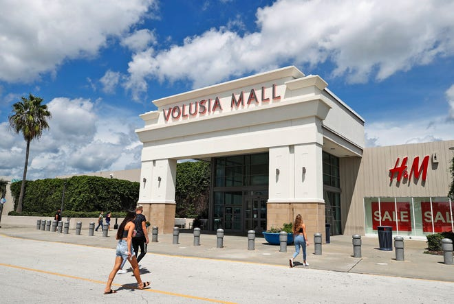Shoppers approach one of the entrances to Volusia Mall in Daytona Beach, Thursday, August 20, 2020. The mall's parent company CBL Properties on Wednesday announced plans to file for Chapter 11 bankruptcy protection this fall. The filing should not affect tenants or shoppers, the company said.
