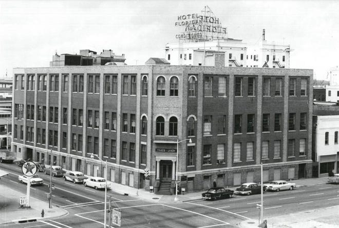 The Times-Union and Journal building in1964 at the corner of Pearl and Adams Streets.