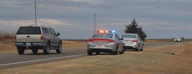 A high speed chase involving a black Charger and multiple law enforcement agencies came into Pratt County late Saturday night, and continued through city limits despite deployment of stop sticks. A suspect was finally arrested in Kiowa County.