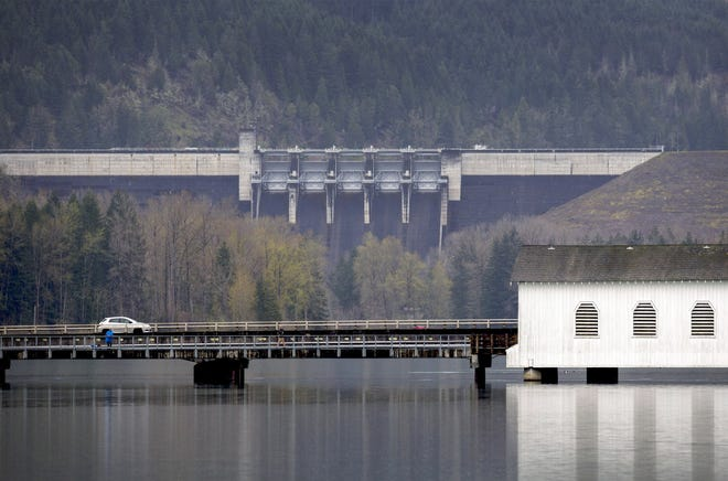 The U.S. Army Corps of Engineers plans to environmentally evaluate the 13 dams in the Willamette Valley System, including the Lookout Point Dam near Lowell. [Andy Nelson/The Register-Guard, file]