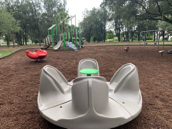 Venezia Park reopened on Thursday with new playground equipment. An online survey and public workshop are planned in the fall to obtain feedback.