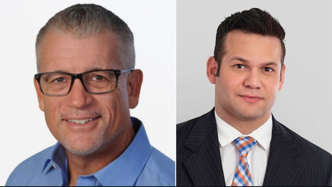 Sarasota City Commission District 3 candidates Dan Clermont and Erik Arroyo. [COURTESY PHOTOS]
