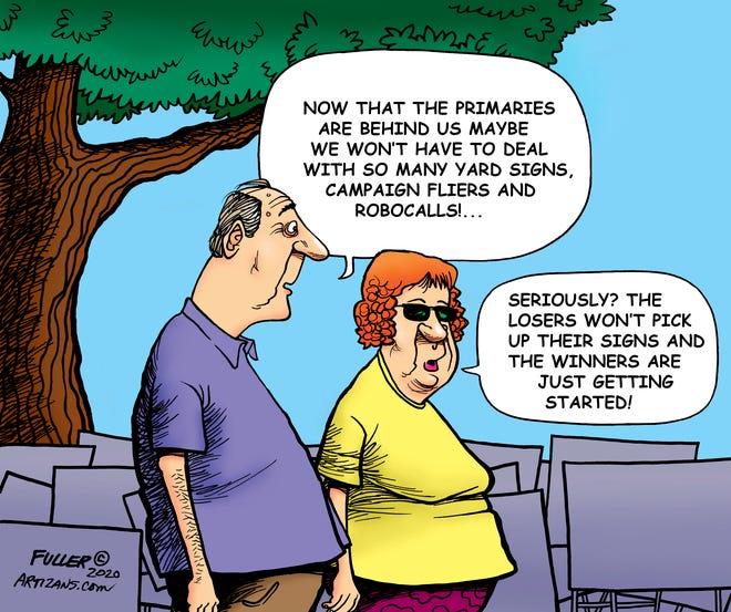 Editorial cartoon by Jake Fuller
