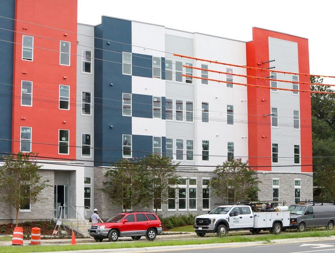 Liv+ Gainesville, a new apartment complex with more than 200 units on Southwest 13th Street, has delayed its planned opening from Saturday to Sept. 6, leaving some students in limbo. [Brad McClenny/Staff photographer/File]