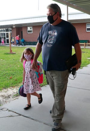 Students and staff were ready to start the school year with new social distancing and mask precautions to help reduce the spread of COVID-19 on Aug. 20, 2020, at Parker Elementary.