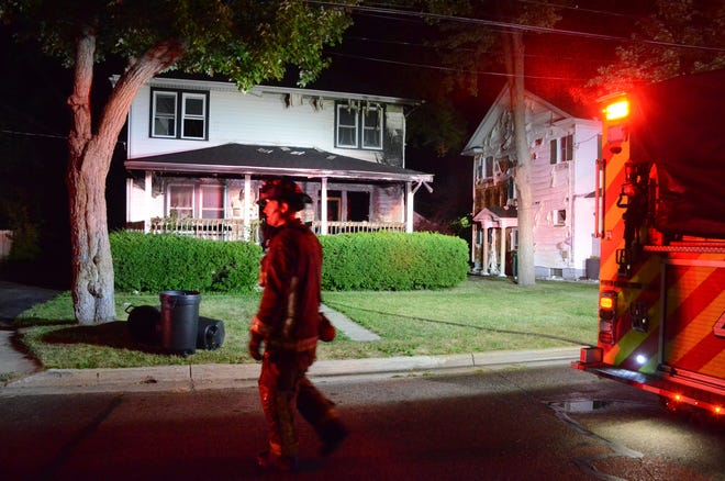 Battle Creek firefighters were called to an apartment-house fire on HIghland Avenue early Thursday.