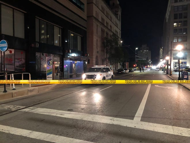 A man is dead Wednesday night after officers found him shot in an alley near the intersection of Eighth and Walnut Streets, according to police at the scene.