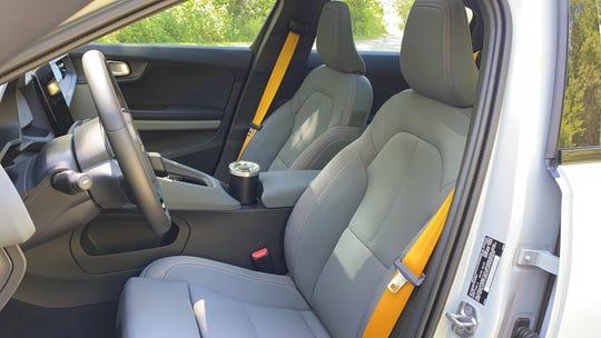 The 2021 Polestar 2's standard interior trim is 'vegan;' No leather, no wood.