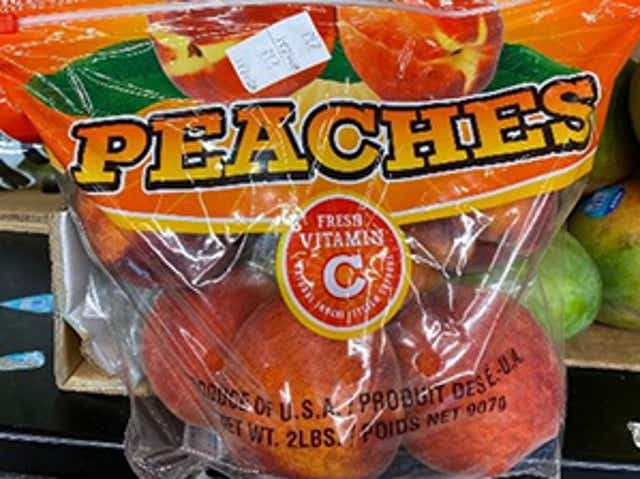 Bagged Peaches Sold At Aldi Stores Recalled Due To Salmonella