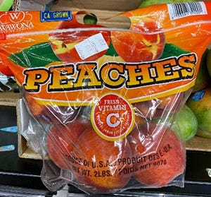 Bagged peaches sold at Aldi recalled.