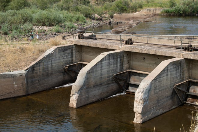 The Poudre Valley Canal, pictured here on Friday, Aug. 14, 2020, will divert water from the Poudre River to the 170,000-acre-foot Glade Reservoir northwest of Fort Collins, Colo. if the project is approved. Northern Water, the main proponent of Northern Integrated Supply Project, or NISP, has applied for a county permit for the siting of Glade Reservoir, as well as its recreational facilities and four pipelines that would carry Glade's water across the county.