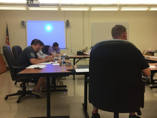 The Lexington Local Schools Board of Education held its monthly meeting Wednesday at the high school.