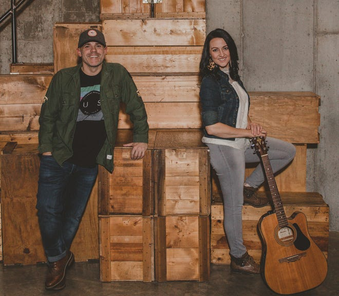 The 96 Mile Band, which consists of Michael Cooper and Tami Griffith, will perform at Yellville's Music on the Square on Saturday night.