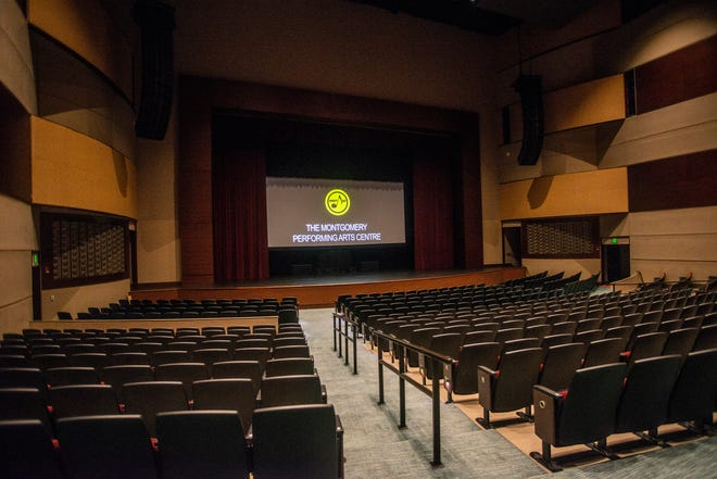 The Montgomery Performing Arts Centre has 1,800 seats, and during coronavirus restrictions has a capacity of 516.